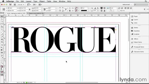 Placing and positioning the masthead: Designing a Magazine Cover