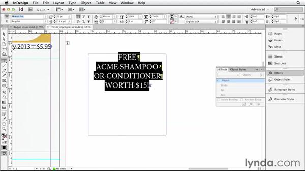 Including additional elements: Designing a Magazine Cover