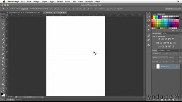 Setting up the Photoshop document: Designing a Magazine Cover