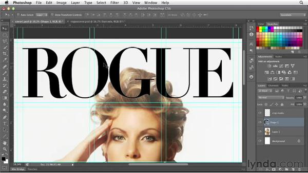 Placing and scaling the cover image in Photoshop: Designing a Magazine Cover