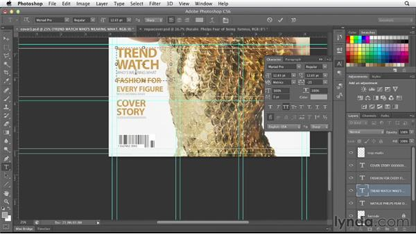 Working with text in Photoshop: Designing a Magazine Cover