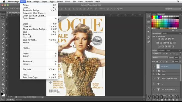 Preparing for print in Photoshop: Designing a Magazine Cover