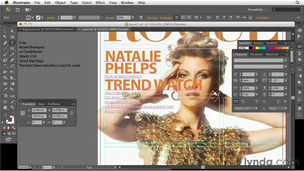 Adding more cover lines in Illustrator: Designing a Magazine Cover