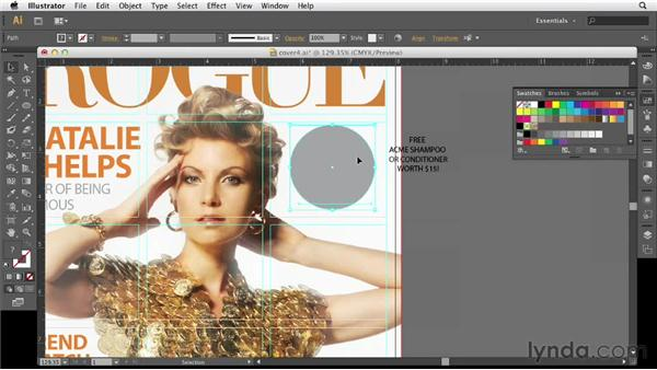 Adding cover items in Illustrator: Designing a Magazine Cover