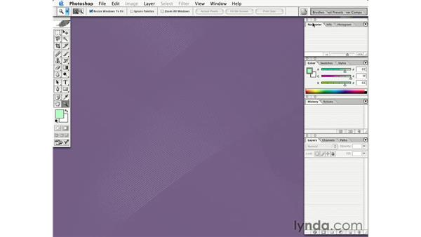interface overview: Learning Photoshop CS for the Web