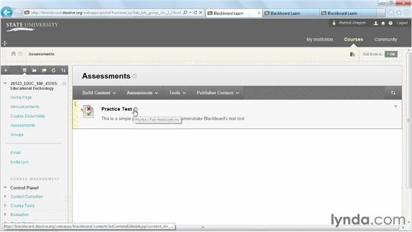 : Blackboard 9.x Essential Training for Instructors