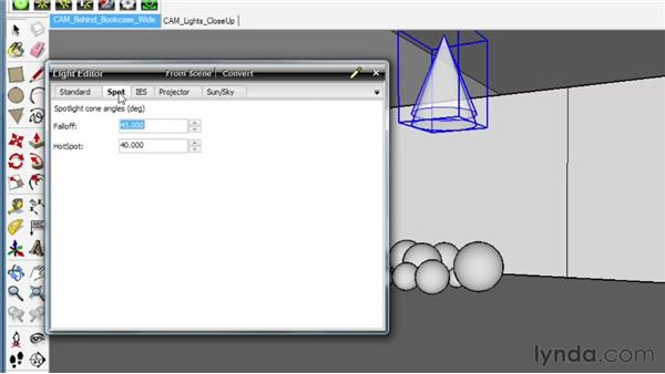 Using the Spot and Projector light types: SketchUp Rendering Using Twilight