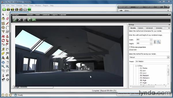 Understanding the importance of reflectance in materials: SketchUp Rendering Using Twilight