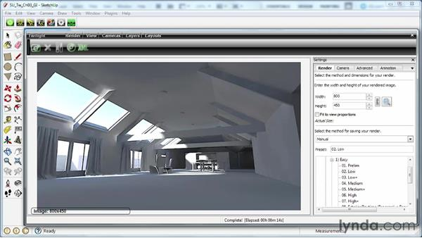 Exploring Light Transport options in Twilight: SketchUp Rendering Using Twilight
