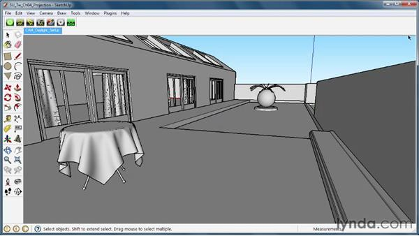 Altering projection types: SketchUp Rendering Using Twilight