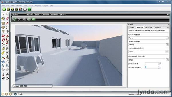 Harnessing tone mapping, exposure, and gamma: SketchUp Rendering Using Twilight