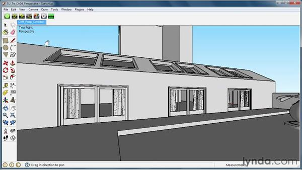 Using two-point perspective correction: SketchUp Rendering Using Twilight