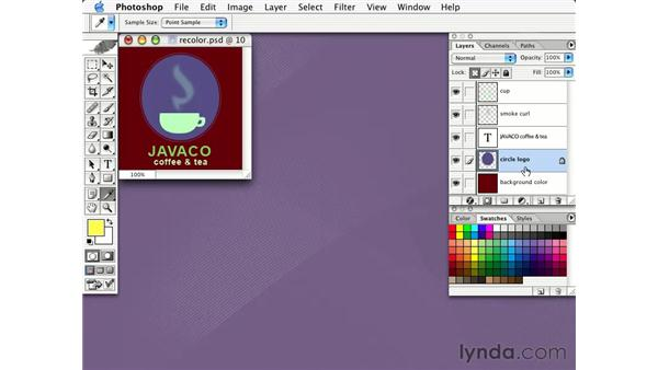 recoloring layered images: Learning Photoshop CS for the Web