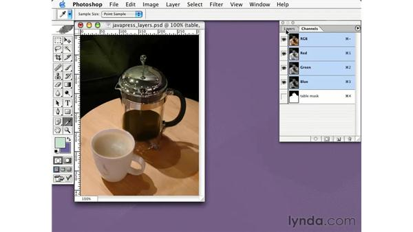 JPEG alpha channel optimization: Learning Photoshop CS for the Web