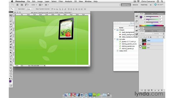 Creating custom graphics for the panels: Create a Sliding Tabbed Panel with jQuery and Dreamweaver