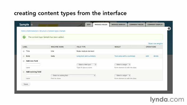 Introduction to content types: Drupal 7 Custom Module Development