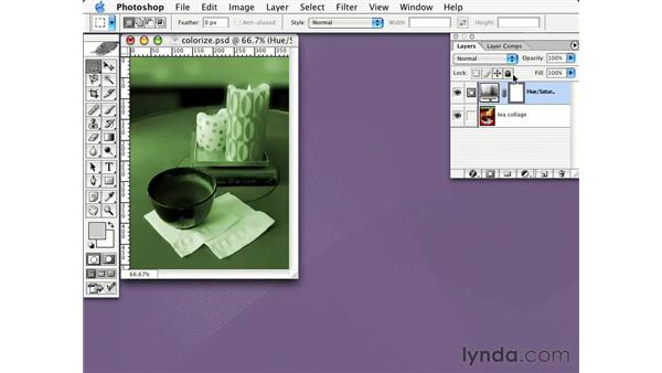 adjustment layers: Learning Photoshop CS for the Web