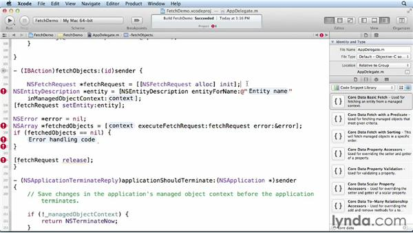 Creating and using a fetch request: Core Data for iOS and OS X