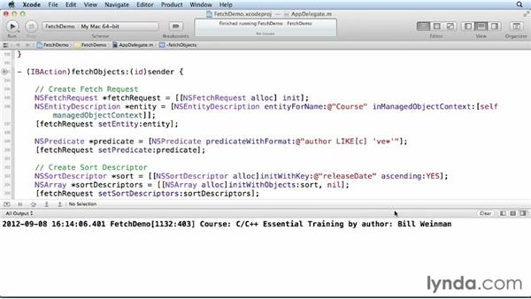 Using predicates: Core Data for iOS and OS X