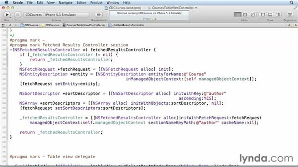 Configuring the fetched results controller: Core Data for iOS and OS X