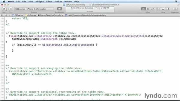 Deleting objects from the table view: Core Data for iOS and OS X