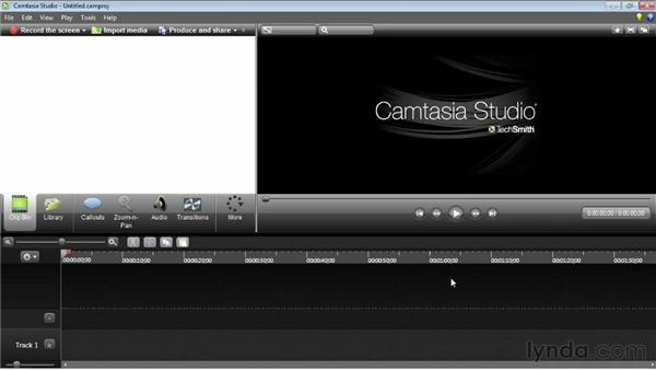 Understanding the interface: Camtasia Studio 8 Essential Training