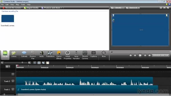 Calibrating a microphone: Camtasia Studio 8 Essential Training