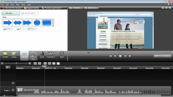 Understanding the editing workflow: Camtasia Studio 8 Essential Training