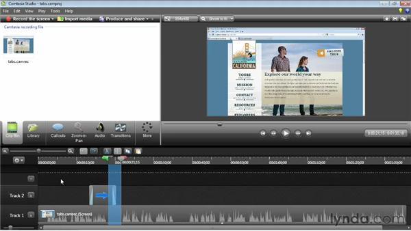 Exploring the timeline: Camtasia Studio 8 Essential Training