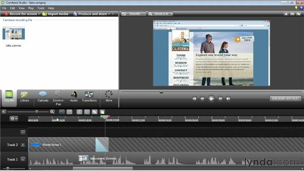 Basic timeline editing: Camtasia Studio 8 Essential Training