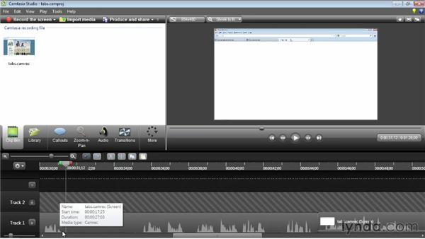 Advanced timeline editing: Camtasia Studio 8 Essential Training