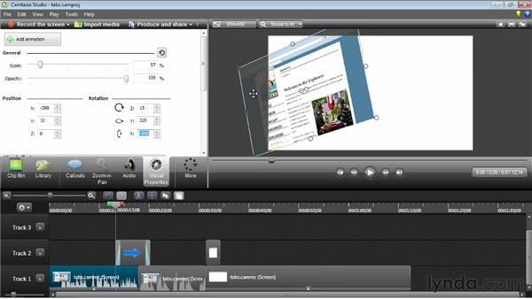 Editing visual properties: Camtasia Studio 8 Essential Training