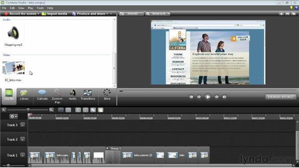 Importing media: Camtasia Studio 8 Essential Training