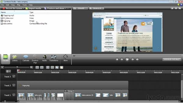 Using the Clip Bin: Camtasia Studio 8 Essential Training