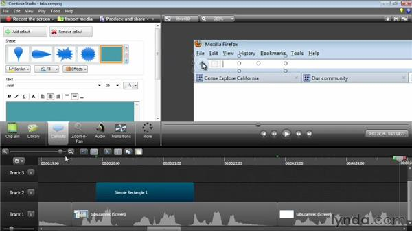 Working with callouts: Camtasia Studio 8 Essential Training