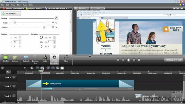 Animating visual properties: Camtasia Studio 8 Essential Training