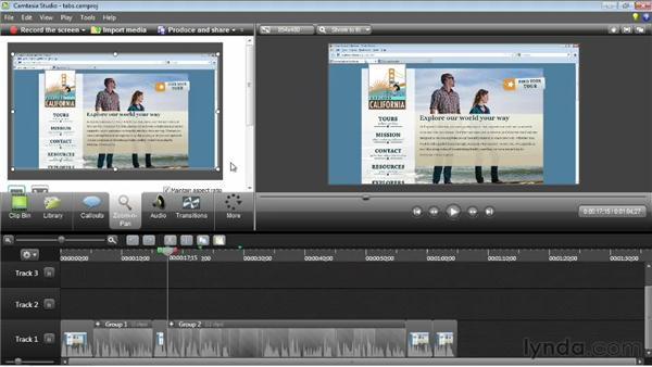 Creating Zoom-n-Pan effects: Camtasia Studio 8 Essential Training