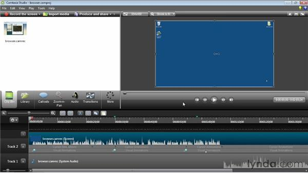 Using SmartFocus: Camtasia Studio 8 Essential Training