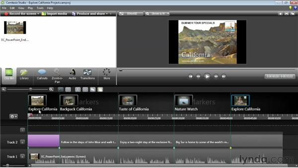 Using PowerPoint markers: Camtasia Studio 8 Essential Training