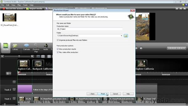 Creating a table of contents: Camtasia Studio 8 Essential Training