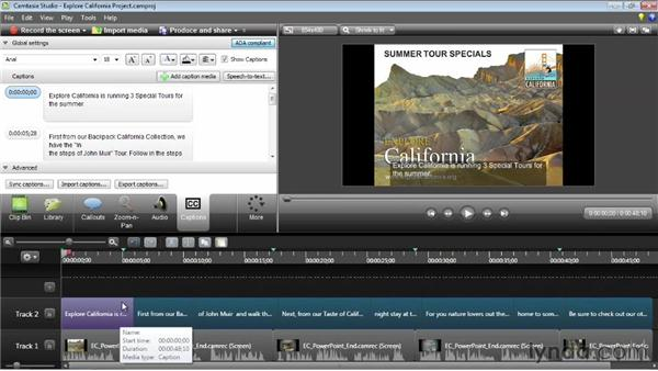 Syncing with a script: Camtasia Studio 8 Essential Training