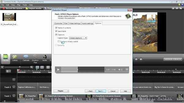 Making movies searchable: Camtasia Studio 8 Essential Training