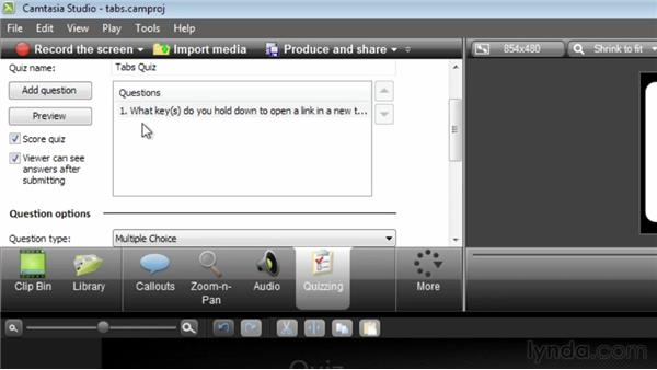 Creating an interactive quiz creating an interactive quiz camtasia studio 8 essential training ccuart Image collections