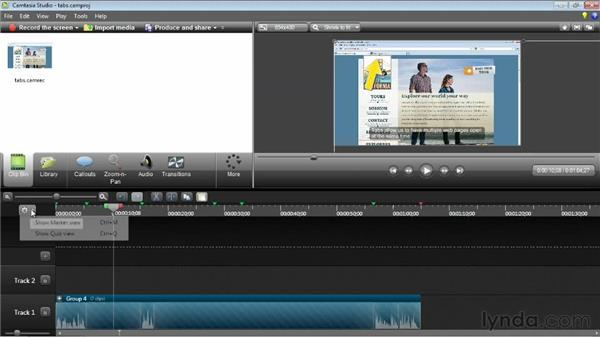 Using markers and groups: Camtasia Studio 8 Essential Training
