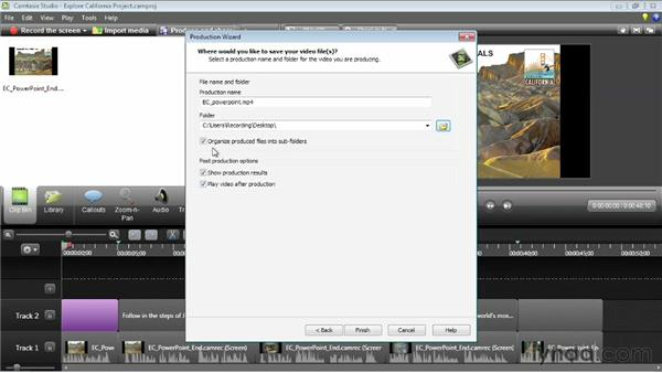 Exporting a PowerPoint movie: Camtasia Studio 8 Essential Training
