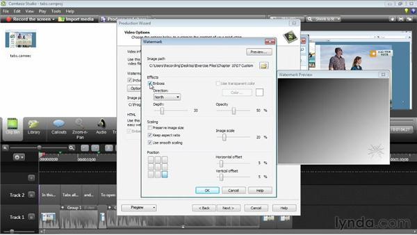Creating a custom export setting: Camtasia Studio 8 Essential Training