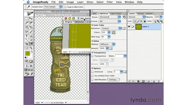 about transparency: Learning Photoshop CS for the Web