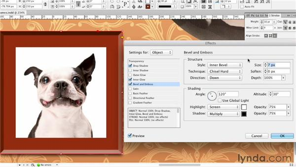 063 Creating picture frames: InDesign FX