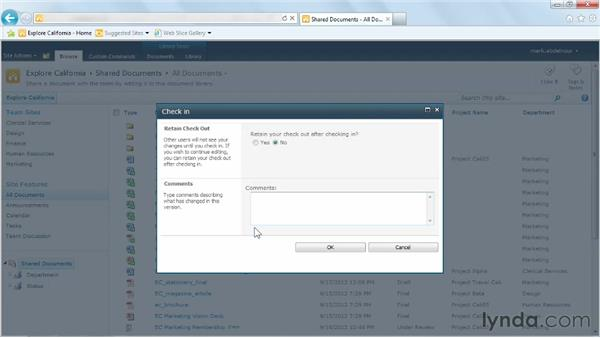 Retaining your check-in and check-out changes: Managing Documents with SharePoint 2010