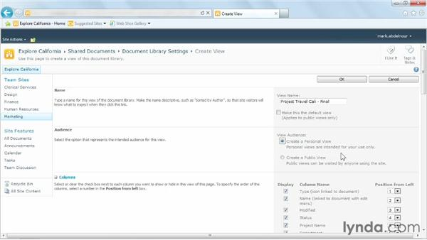 Creating views: Managing Documents with SharePoint 2010